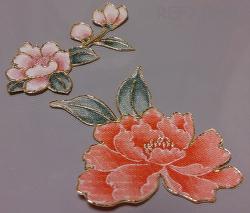 牡丹の花の型置き