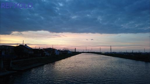 川の朝 2015年6月30日 午前4時30分
