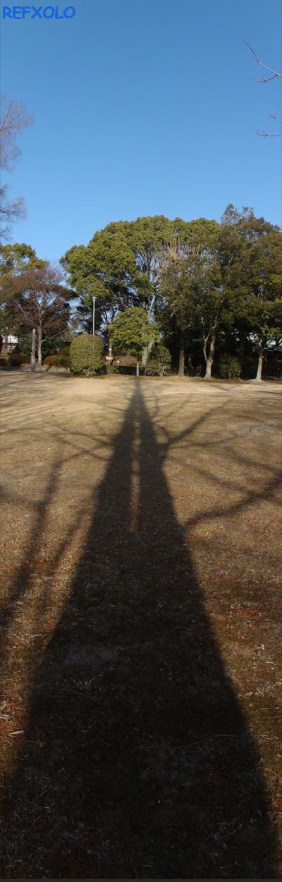 グーンンと伸びた影