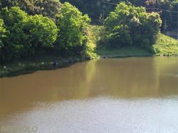 増沢池で釣りをする人々