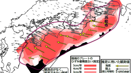 南海トラフひずみ図
