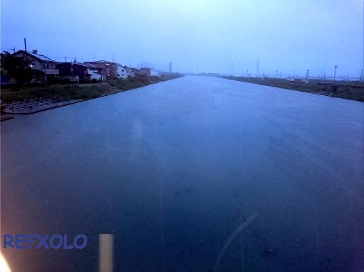 大雨の河川