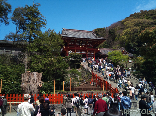 鶴岡八幡宮本宮の石段