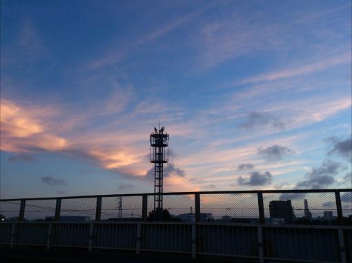 梅雨明けの日没20120717
