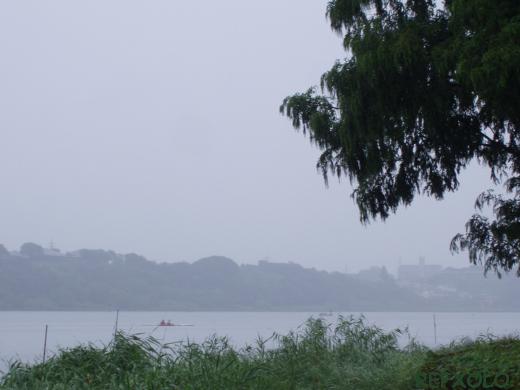 写真:雨中のボート(佐鳴湖)の画像