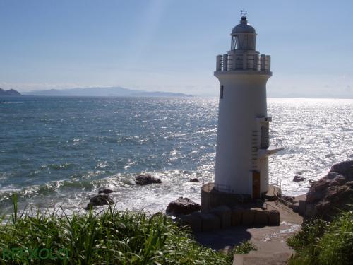 写真:伊良湖岬灯台のある海の風景画像