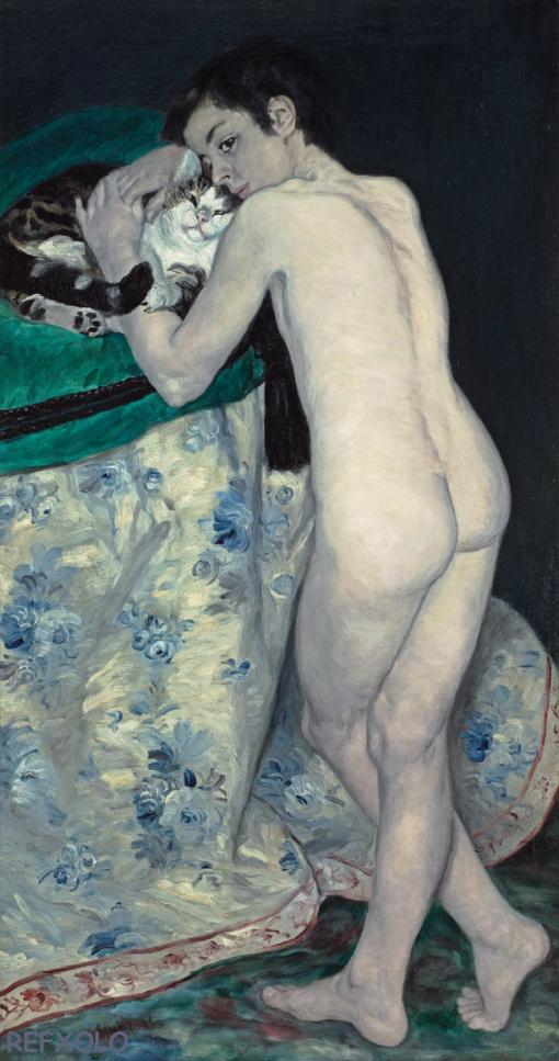 Le garcon au chat-Pierre Auguste Renoir