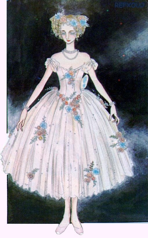 アラベスク第2部第22回ラ・シルフィールドの衣装を着たノンナ・ペトロワ