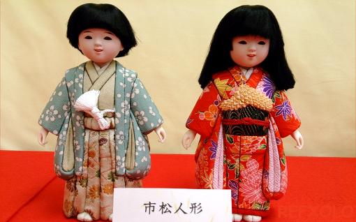 市松人形(男の子と女の子)