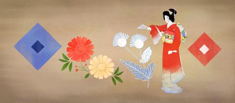 上村松園生誕140年Googleロゴ